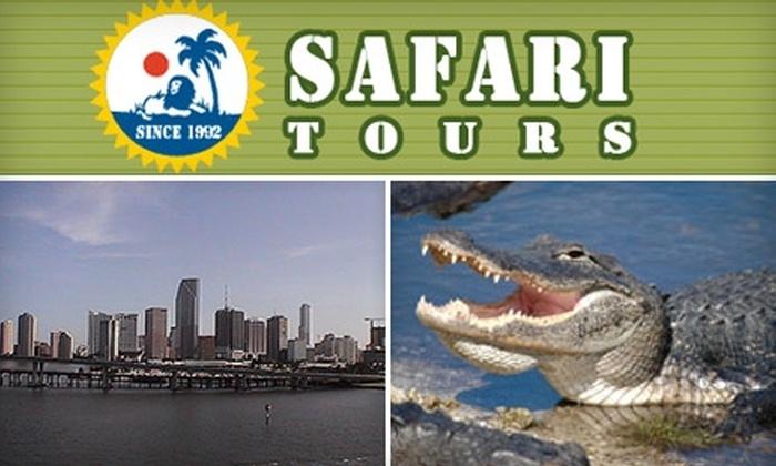 Safari Tours Miami - Downtown Miami: Guided Tours of Miami and the Everglades at Safari Tours Miami. Choose from Three Tours.
