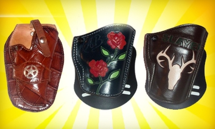 Lone Star Outlaws - Golden Hill: $30 for $60 Worth of Custom-Made Leather Holsters and Motorcycle Vests at Lone Star Outlaws