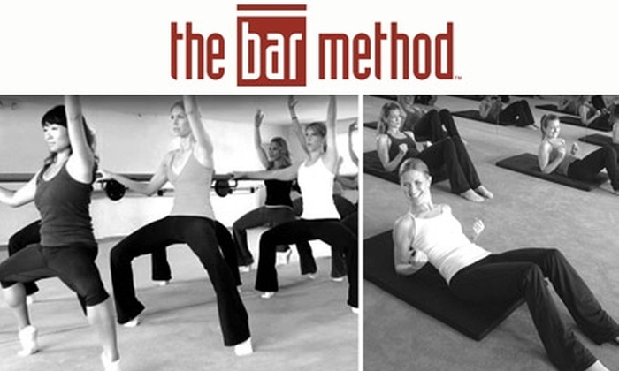 The Bar Method - Multiple Locations: $25 for Two One-Hour Fitness Classes at The Bar Method ($50 Value). Choose Between Two Locations.