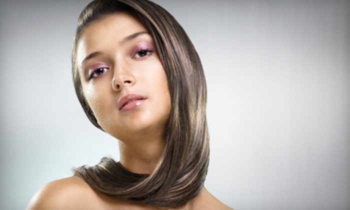 Red Salon & Spa - Multiple Locations: Keratin Treatment or Feather Extension at Red Salon & Spa