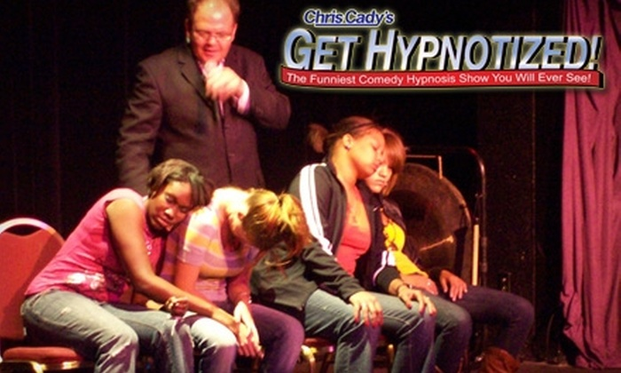 """Chris Cady's """"Get Hypnotized"""" Comedy Hypnosis Show - Downtown Reno: $26 for Two Tickets to Chris Cady's Comedy Hypnosis Show, Plus Two Drinks, and Two Performance DVDs (Up to $98 Value). Two Shows Available."""