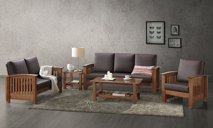 Living room set 5 piece groupon goods for Living room set deals