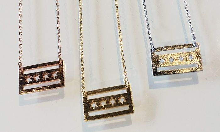 The Left Bank Jewelry & Bridal Finery - In-Store Pickup: $12 for a Chicago-Flag Necklace with In-Store Pickup at The Left Bank Jewelry & Bridal Finery ($24 Value)