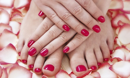 Mani-Pedis by Maria Palacios at Bella Studio Nails (Up to 53% Off). Three Options Available.