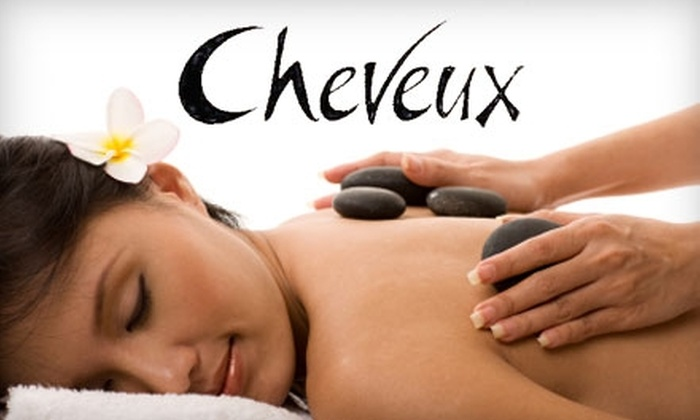 Cheveux - East Hills: $49 for 75-Minute Hot Stone Massage and Herbal Towel Facial at Cheveux ($100 Value)