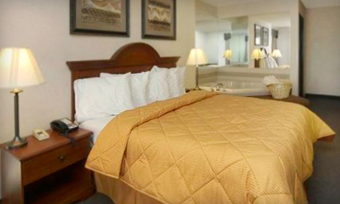 Comfort Inn & Suites - Windsor: Whirlpool Suite Romance Package for Two or a One-Night Stay at the Comfort Inn & Suites in Dimondale (Up to 53% Off)