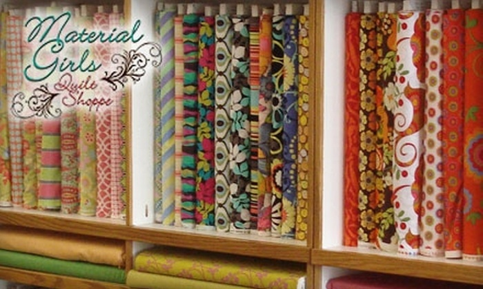 Material Girls Quilt Shoppe - Delano: $10 for $20 Worth of Fabrics and Supplies at Material Girls Quilt Shoppe