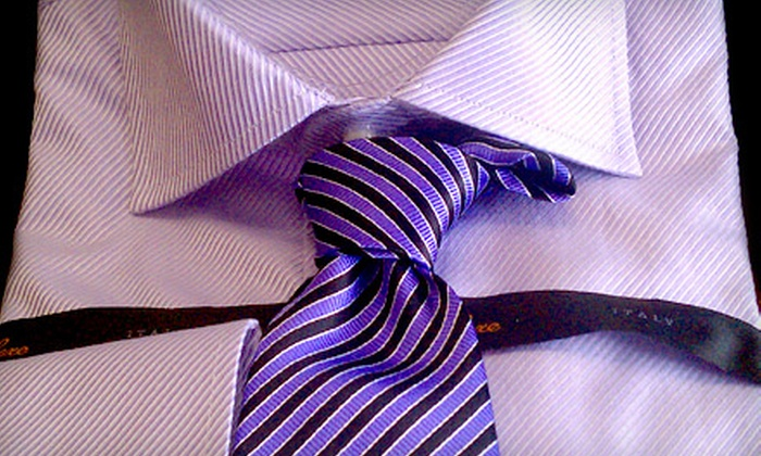 Dan's Clothier and Tailor Shop - Lenexa: $69 for a Men's Italian Handwoven Tie and Tailored Shirt at DanDan the Tailor Man ($160 Value)