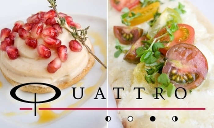Quattro - Downtown: $20 for $45 Worth of Upscale Italian Cuisine from Quattro