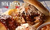 OOB* Big Papa's BBQ - Multiple Locations: $15 for $30 Worth of Southern Style Barbeque and Sides at Big Papa's BBQ