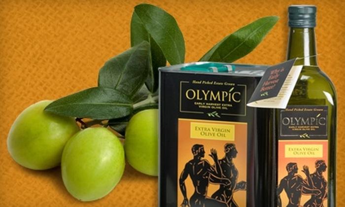 Greek International Food Market - West Roxbury: $10 for a Bottle of Olympic Extra-Virgin Olive-Oil at the Greek International Food Market in West Roxbury ($19.99 Value)