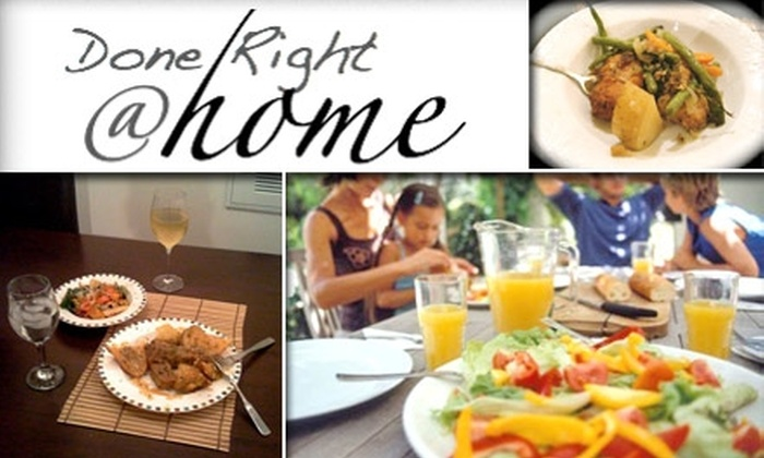 Done RIght Catering - Washington DC: $50 for Five Fully Prepared Meals Delivered to Your Door by Done Right Catering ($100 Value)