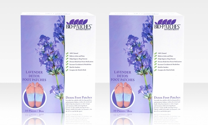 20-Piece Natural Detox Foot Patches: 20-Piece Natural Detox Foot Patches in Lavender or Rose