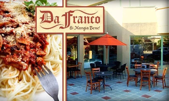Da Franco Ristorante Italiano - Ditmars Steinway: $15 for $30 Worth of Fine Italian Cuisine and Drinks at Da Franco Ristorante Italiano