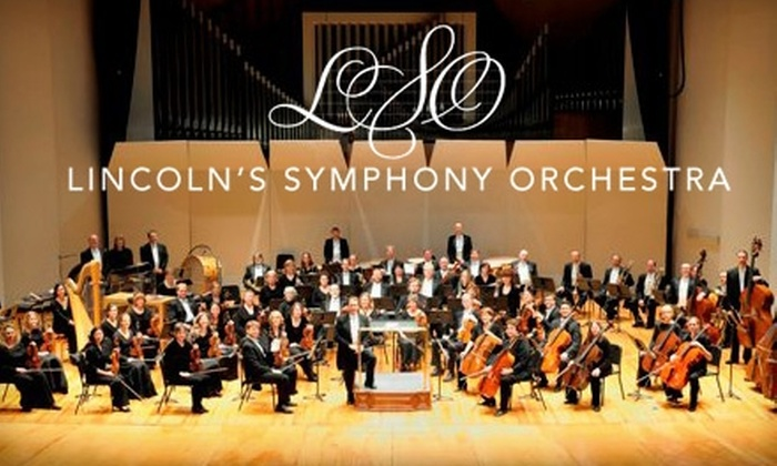 $22 Main-Floor Ticket to Lincoln Symphony Orchestra ($45 Value). Choose from Six Symphony Events.