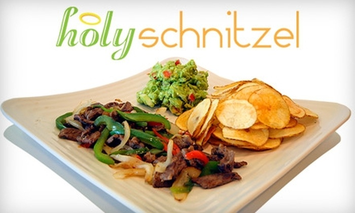 Holy Schnitzel - New Springville: $7 for $15 Worth of Eclectic Kosher Eats at Holy Schnitzel on Staten Island
