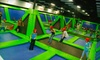 Rebounderz Indoor Trampoline Arena - Longwood: $18 for an Indoor-Trampoline Session for Two with Drinks at Rebounderz Indoor Trampoline Arena in Longwood ($32.50 Value)