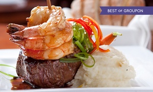 Hengist: 16oz Chateaubriand Meal with Garlic King Prawns and Accompaniments for Two at Hengist