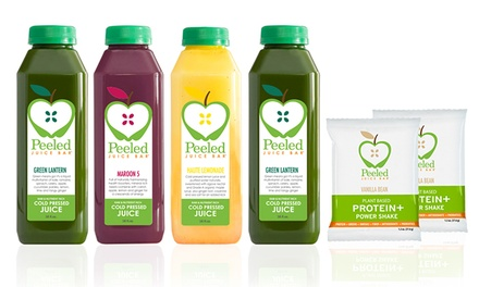 $109 for 3-Day Juice Cleanse with Shipping from Peeled Juice Bar ($233 Value)