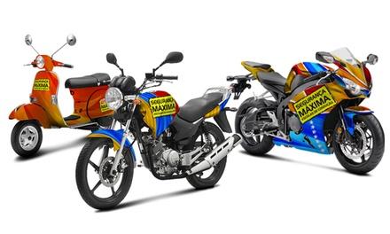 Segurança Máxima Escolas de Condução — 25 escolas: aula de aperfeiçoamento de condução de motociclos por 8,95€