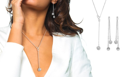 Brincos, colar ou conjunto Infinity Fashion com Swarovski Elements desde 6,99€