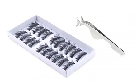 10 Pairs of Fake Eyelashes with Lash Applicator