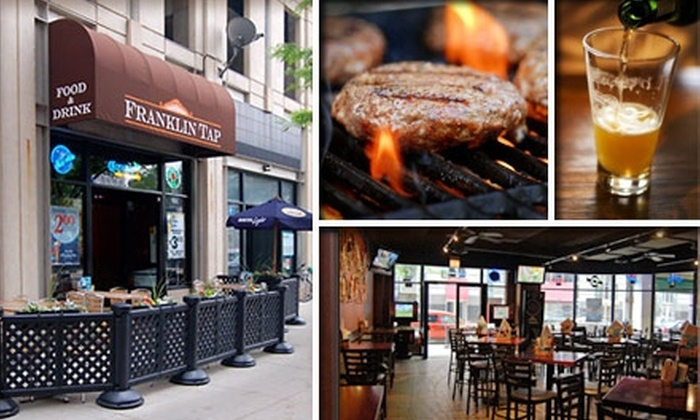 Franklin Tap - Multiple Locations: $20 for $50 Worth of Pub Grub and Drinks at Franklin Tap