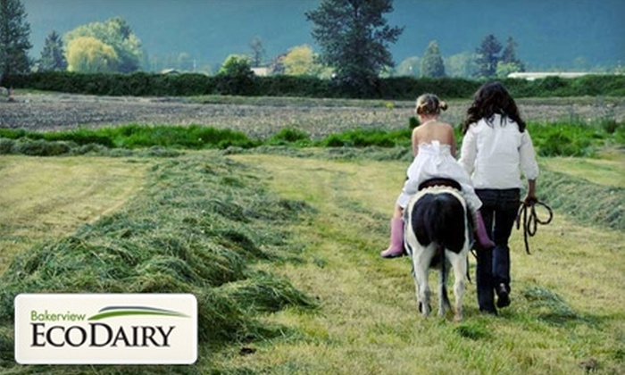 Bakerview EcoDairy - Sumas Prairie: $9 for Two Adult Admissions to a Tour at Bakerview EcoDairy ($18 Value)