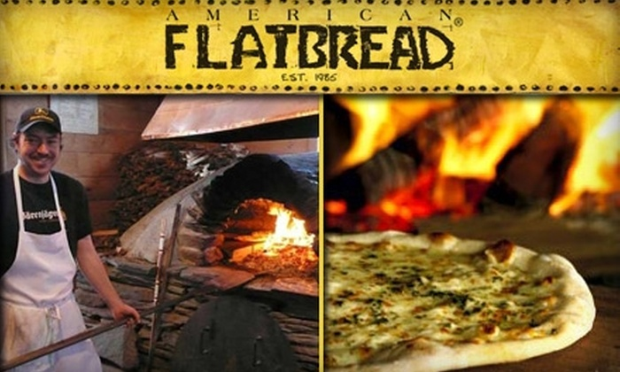 American Flatbread - Multiple Locations: $12 for $25 Worth of Hearth-Baked Pizzas and Drinks at American Flatbread