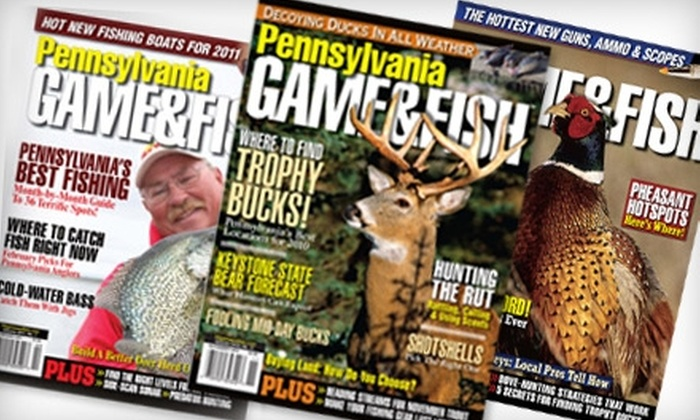"""Game & Fish"" Magazine - Bethel Park: $8 for a One-Year Subscription to ""Game & Fish"" Magazine ($12 Value)"