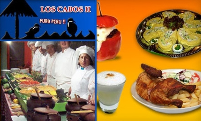 Los Cabos II - Central Business District: $25 for $50 Worth of Peruvian Cuisine and Drinks at Los Cabos II