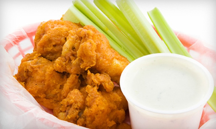 Cluck-U Chicken - Newport,The Waterfront,Pavonia: Wings Meal with 20 or 40 Chicken Wings at Cluck-U Chicken in Hoboken (Up to 55% Off)