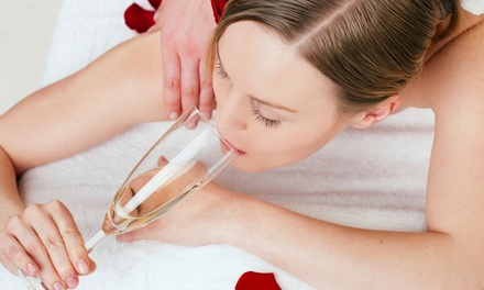 50-Minute Amazing Indulgence Massage Package with Glass of Wine for One or Two at Amazing You Day Spa (50% Off)