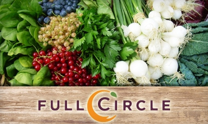 Full Circle - Riverside: $16 for One Standard Box of Organic Produce with Pick-Up Option from Full Circle ($33 Value)