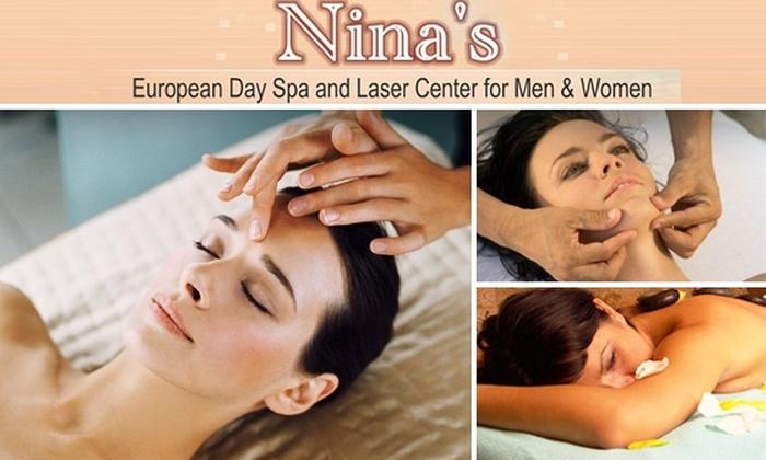 Nina's European Day Spa - Koreatown: $55 for Mini Facial and Mini Massage at Nina's European Day Spa ($150 Value)
