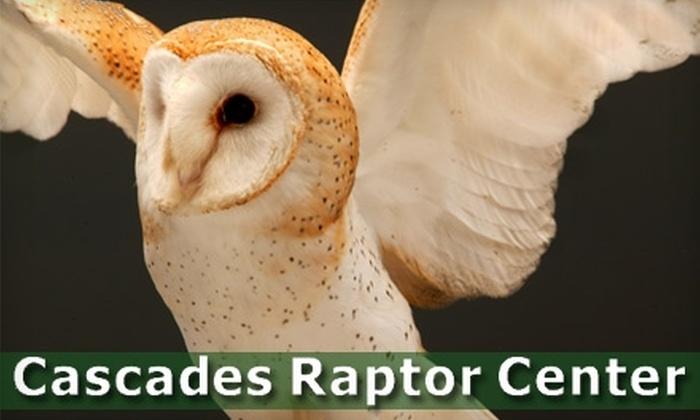 Cascades Raptor Center - Creswell: $17 for Membership ($35 Value) or $6 for Admission for Two (Up to $14 Value) at Cascades Raptor Center