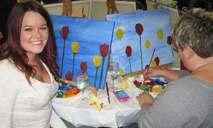 Painting-Party Admission for One, Two, Four, or Six from PaintingAt (Up to 49% Off)