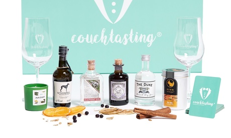 Erlebnis-Gin-Tasting-Box für 2 Personen inkl. Versand von Couchtasting