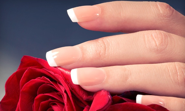 Q Salon & Nails - Arden - Arcade: One or Three Full Sets of Pink-and-White Acrylic Nails at Q Salon & Nails (Up to 53% Off)