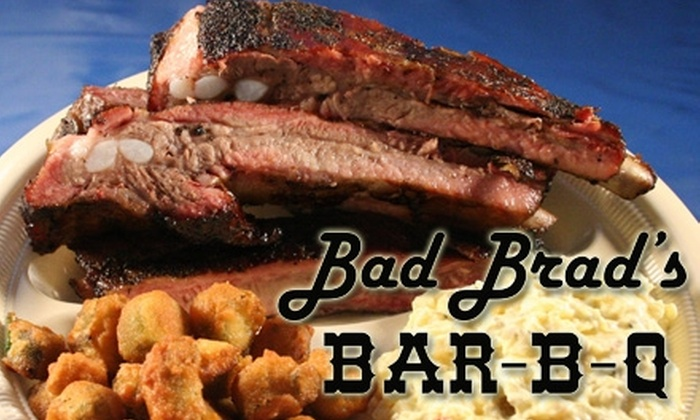Bad Brad's Bar-B-Q - Multiple Locations: $10 for $25 Worth of Barbecue Fare and Drinks at Bad Brad's Bar-B-Q