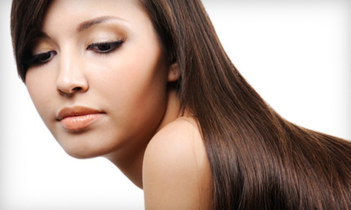 Revive Salon - Newark: Beach Wave or Pravana Perfection Smoothing Treatment at Revive Salon in Newark (Up to 61% Off)