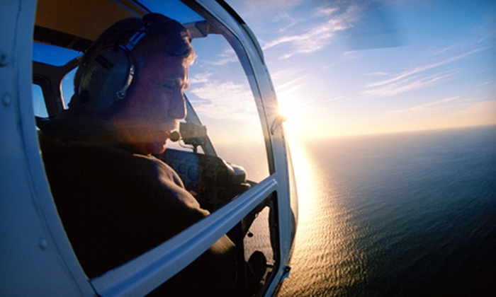 Channel Islands Helicopters - Oxnard: Whale-and-Surf Helicopter Tour for Two or Three with Champagne or Sparkling Grape Juice from Channel Islands Helicopters (Up to 51% Off)