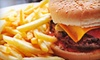 Forum Public House - Downtown Vancouver: Burger or Sandwich Meal with Fries for Two or Four at Forum Public House (Up to 63% Off)