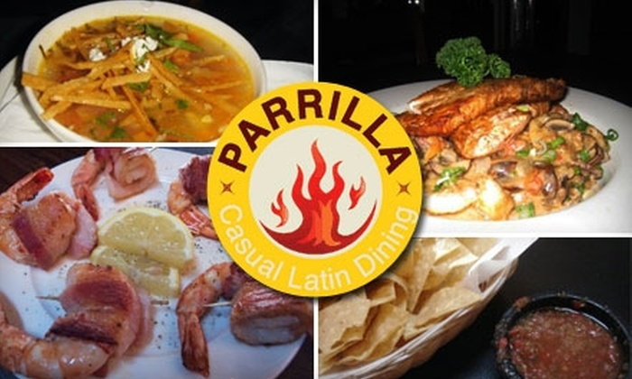 Parrilla - Nob Hill: $20 for $40 Worth of Savory Latin American Fare, Sangria, Margaritas, and More at Parrilla