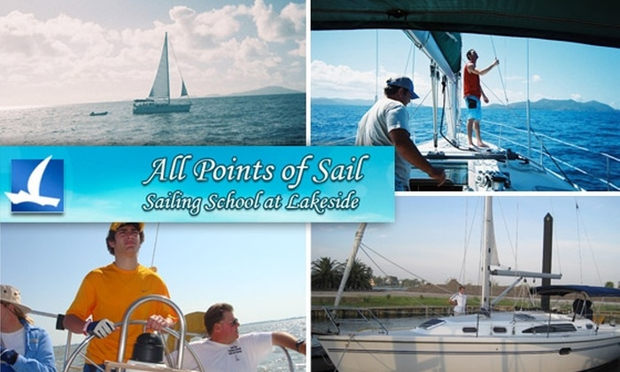 All Points Sailing School at Lakeside - Seabrook: $35 for Four-Hour Intro to Sailing at All Points of Sail ($64 Value)