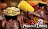 Famous Daves - Springfield - Boston Road: $20 for $40 Worth of Barbecue at Famous Dave's