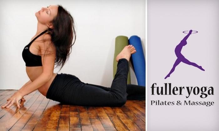 Fuller Yoga Pilates and Massage - Parkville: $45 for 10-Class Pass at Fuller Yoga Pilates and Massage ($130 Value)