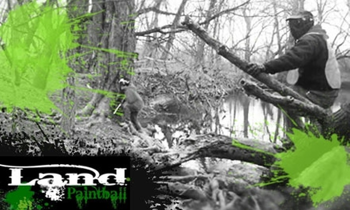 Land Paintball - South Columbus: $10 for an Open Play Package at Land Paintball ($22 Value)