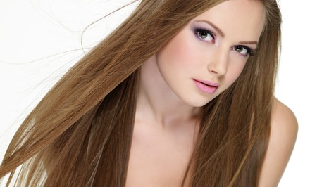 Hairstyling and Conditioning Treatment with Optional Color or Highlights at La Bella Vita (Up to 62% Off)