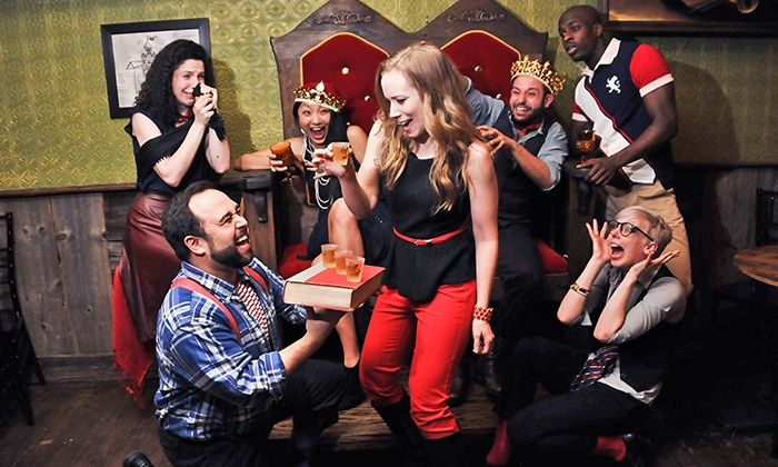 """Drunk Shakespeare"" - Quinn's Bar: ""Drunk Shakespeare"" at Quinn's Bar on August 14–September 26 (Up to 41% Off)"